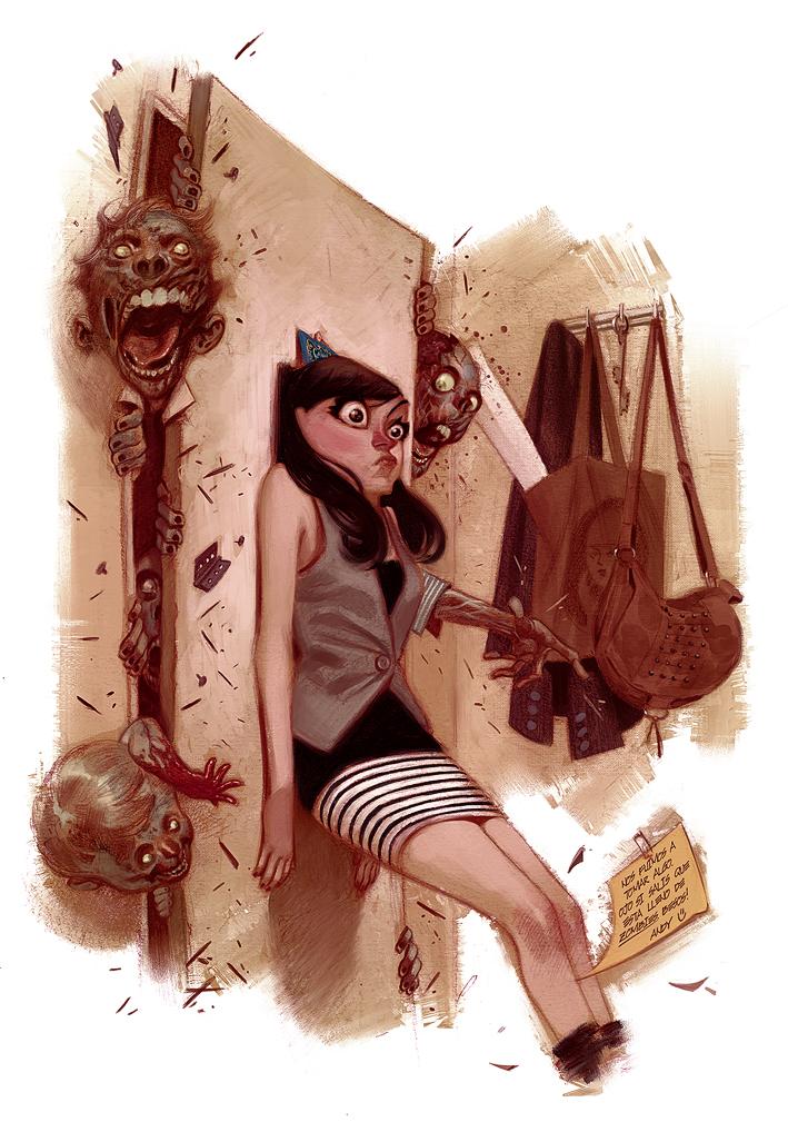 girl vs. zombies