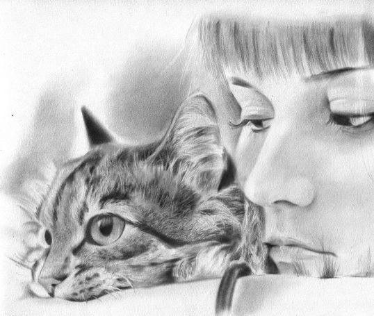 Девушка телец кот