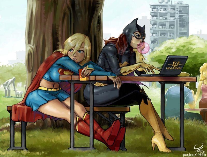тихий вечер среды у супергероинь...