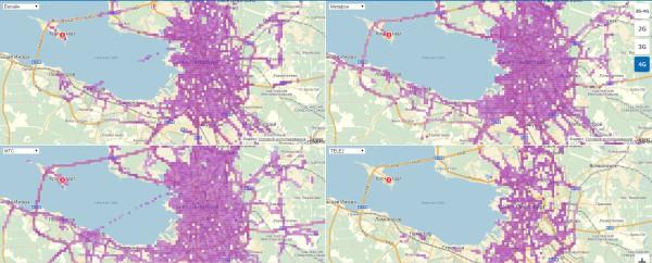 Карта покрытия сотовых операторов Петербурга