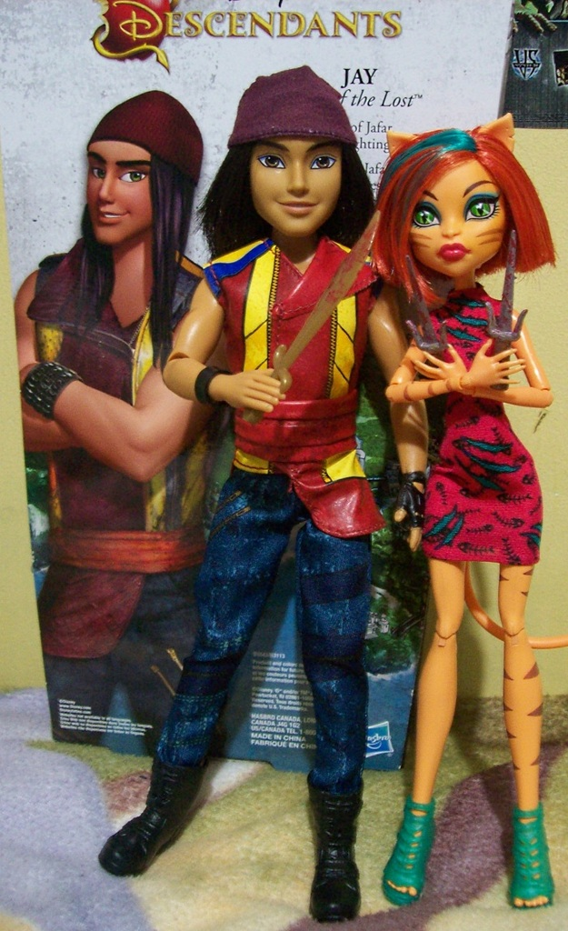 Jay from Descendants and Toralei Stripe: daily_doll
