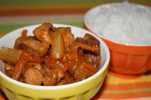 Мясо по тайски с молоком рецепт