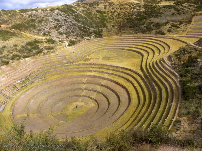Un gran viaje a America del Sur. Перу. Valle Sagrado. Морай - сельскохозяйственная лаборатория Инков