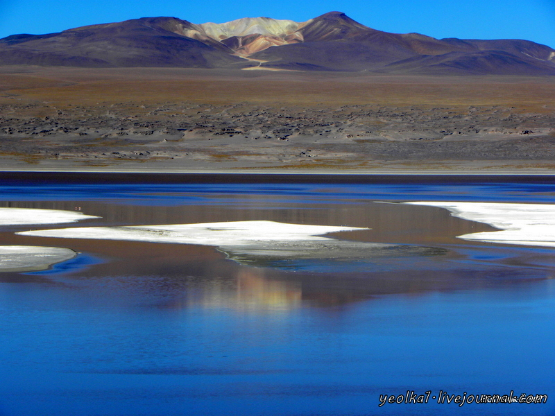 Un gran viaje a America del Sur. Боливия. Выход в космос. Красные воды лагуны Колорада