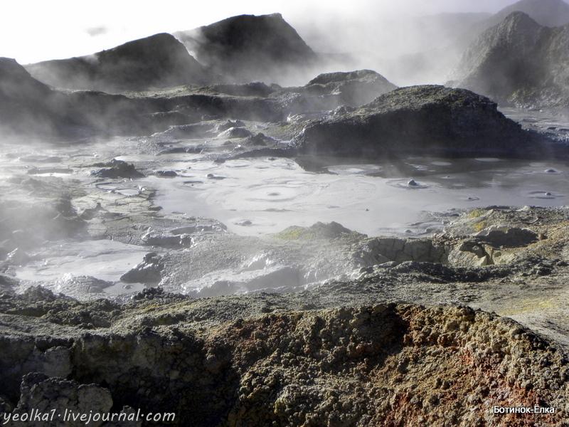 Боливия. Выход в космос. Гейзерное плато Sol de Mañana Выход, космос, Альтиплано, Mañana, гейзерам, когда, Боливия, самая, здесь, гейзеров, плато, гейзерное, смотреть, Земле, полном, солнце, утром, между, Салар, грязью