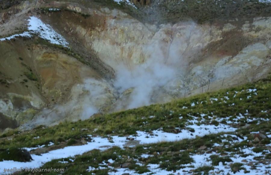 Араукания с кондорами.  Снежный поход в  Вайе дель Агуас Кальентес. -