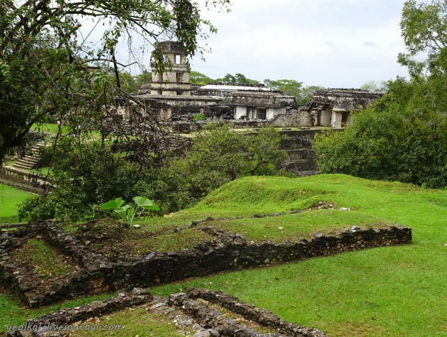 Mundo Maya. Мексика. Чьяпас. Паленке - город, растворившийся во влажных джунглях -