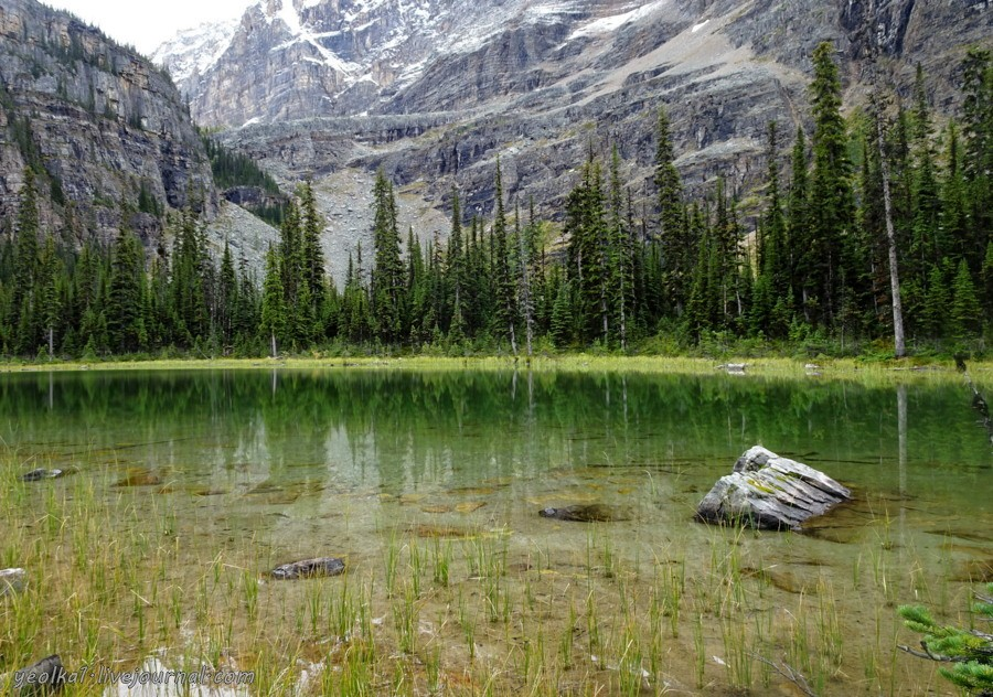 По западу Канады. Национальный парк Йохо. Добраться до озера О'Хара