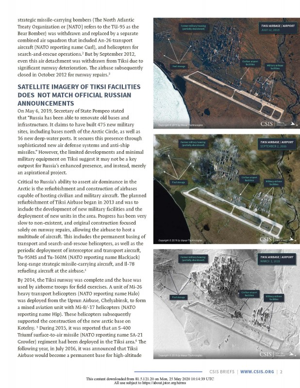 2020-03 – Melino, M., Conley, H. A., Bermudez Jr., J. S. (2020). Tiksi Airbase – Many Russian Announcements, Little Equipment. Center for Strategic and International Studies (CSIS)_Страница_03