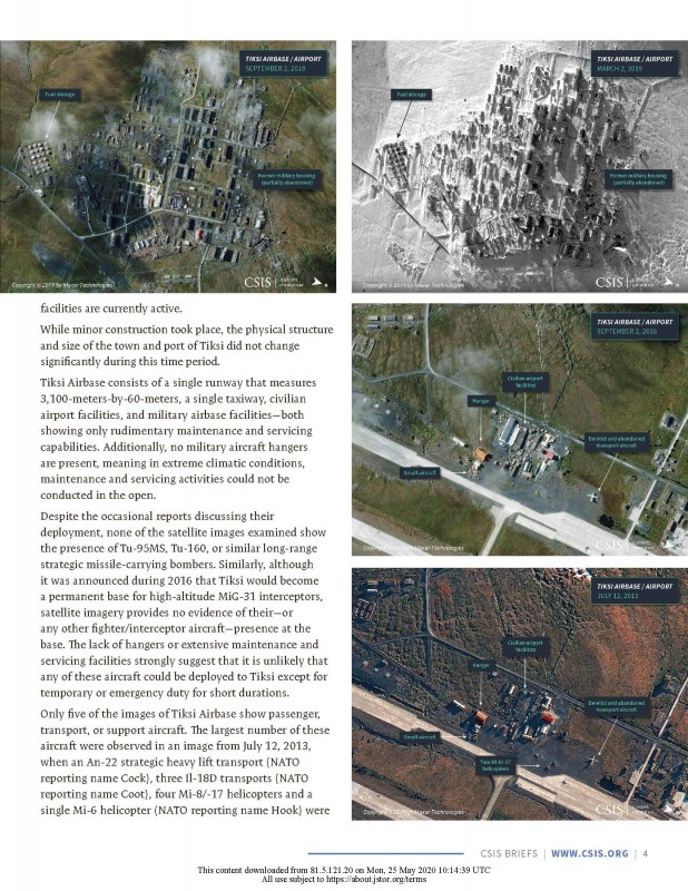 2020-03 – Melino, M., Conley, H. A., Bermudez Jr., J. S. (2020). Tiksi Airbase – Many Russian Announcements, Little Equipment. Center for Strategic and International Studies (CSIS)_Страница_05