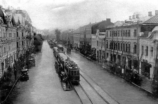 1-я Мещанская улица (проспект Мира), дома 6-8. Фото 1934 г