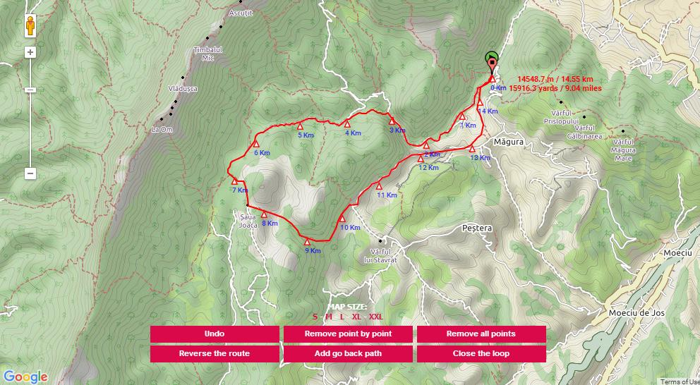 Zarnesti Gorge track map.jpg