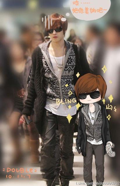 kakkoi~~~~ ^^ ^^ the animated him is soooo much like him...ne, right? right? XDDD