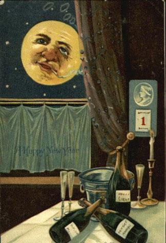 Странные и необычные новогодние открытки из прошлого столетия 80062-1