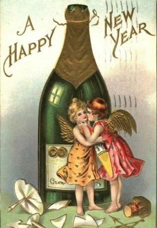 Странные и необычные новогодние открытки из прошлого столетия 80062-4