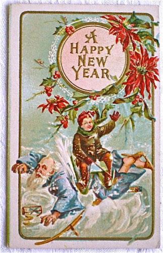 Странные и необычные новогодние открытки из прошлого столетия 80062-5