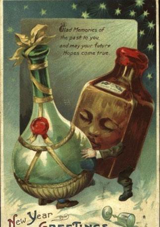 Странные и необычные новогодние открытки из прошлого столетия 80062-10