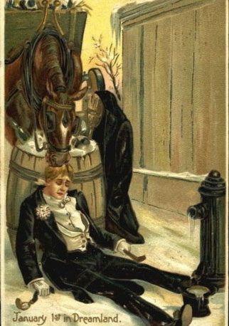 Странные и необычные новогодние открытки из прошлого столетия 80062-12