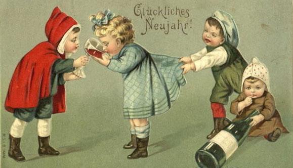 Странные и необычные новогодние открытки из прошлого столетия 80062-14