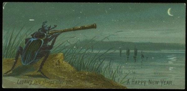 Странные и необычные новогодние открытки из прошлого столетия 80062-15