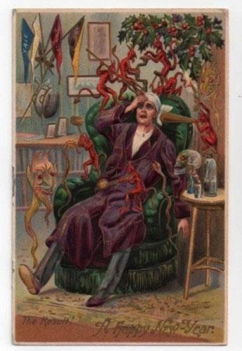 Странные и необычные новогодние открытки из прошлого столетия 80062-17