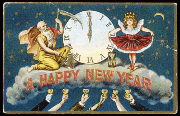 Странные и необычные новогодние открытки из прошлого столетия 80062-18