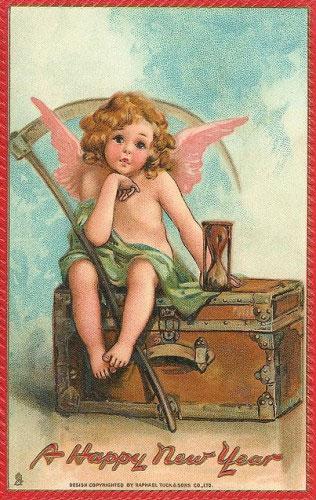 Странные и необычные новогодние открытки из прошлого столетия 80062-19