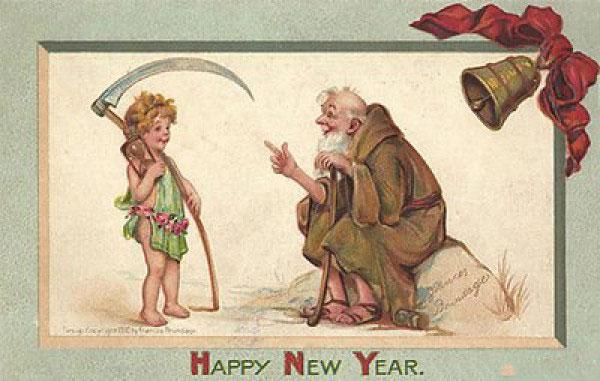 Странные и необычные новогодние открытки из прошлого столетия 80062-20
