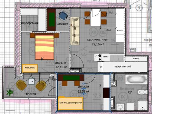 планировка квартиры -1