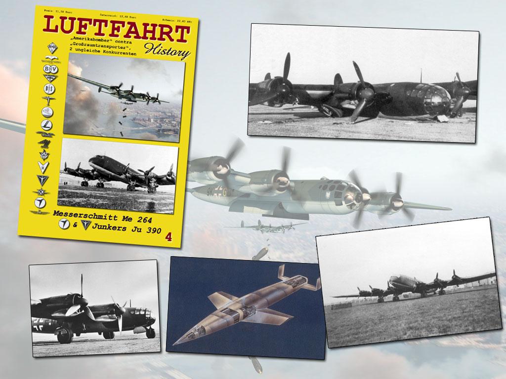 luftfahrt history heft 4 - messerschmitt me 264 amerikabomber