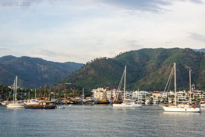 Яхты в бухте Мармариса Турция