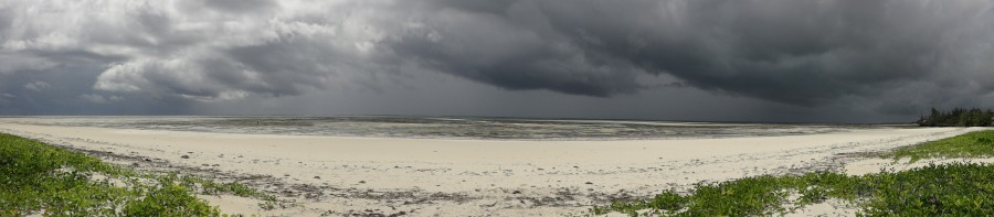 storm clouds over beach 001