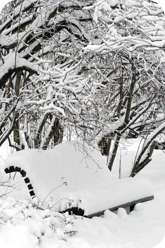 Снежный интерьер