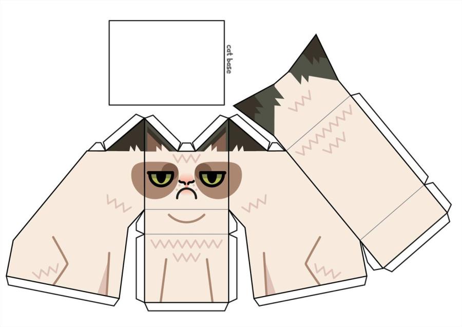 Как сделать котиков из бумаги