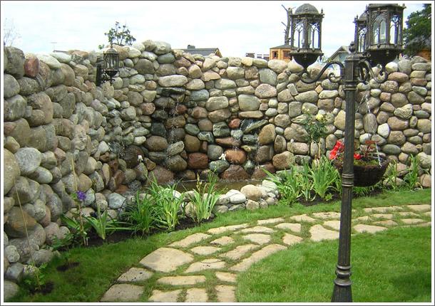 Стены из камня фото