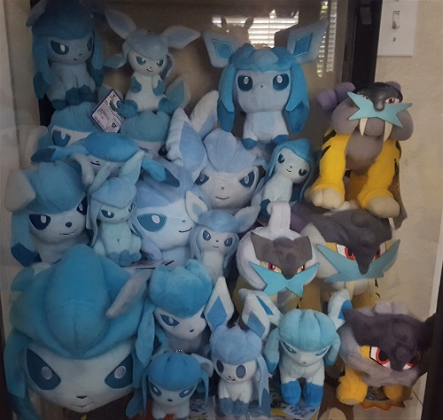 Glaceon and my small (for now) Raikou collection