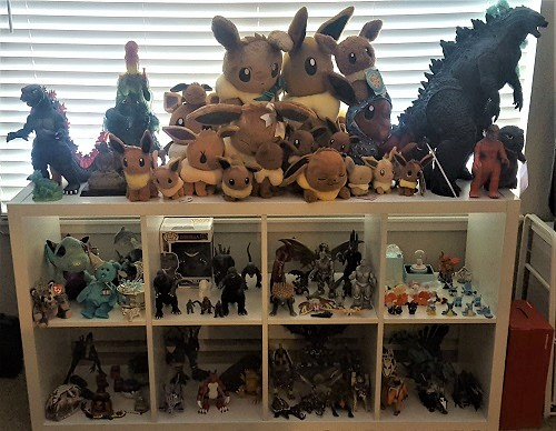 Eevees galore! I also collect various other things as well, Godzilla being another icon that is dear to me.