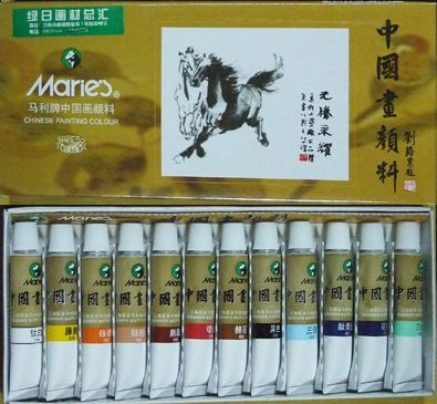 краски для китайской живописи: