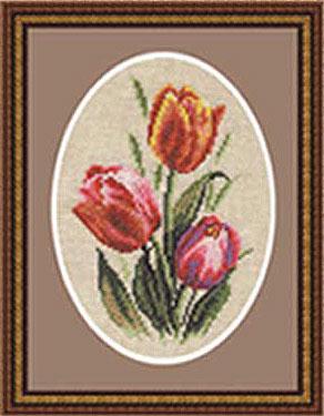 Золотое Руно Б-015 - Бутоньерка с тюльпанами