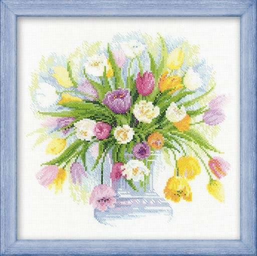 Риолис премиум 100.008 - Акварельные тюльпаны