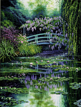 Candamar Designs 51308 - Charles White - Monets Japanese Bridпу