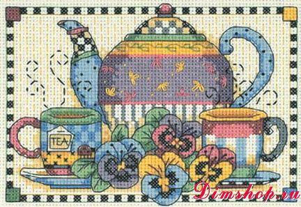 Dimensions 06877 - Teatime pansies