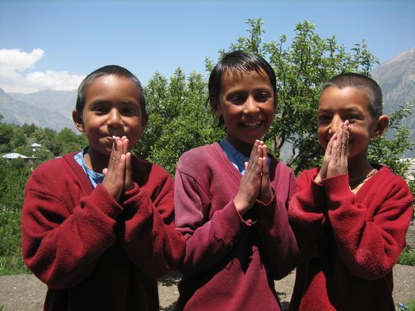 408763-Namaste--3-school-girls-in-Kalpa-0