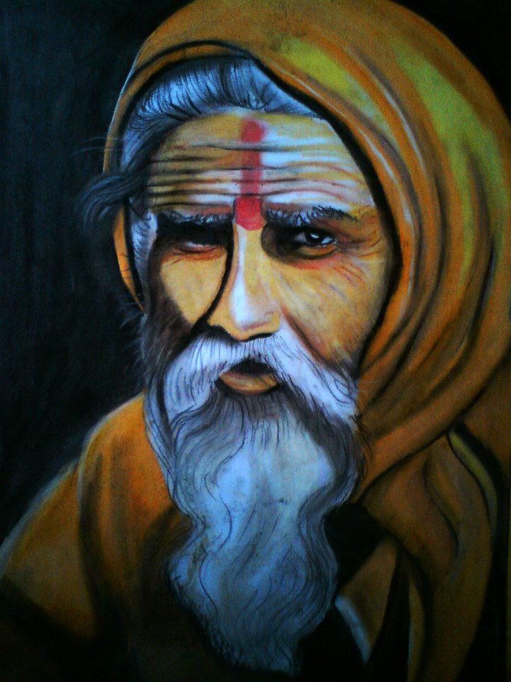 Sadhu-oil-pastels-on-paperA3-47742