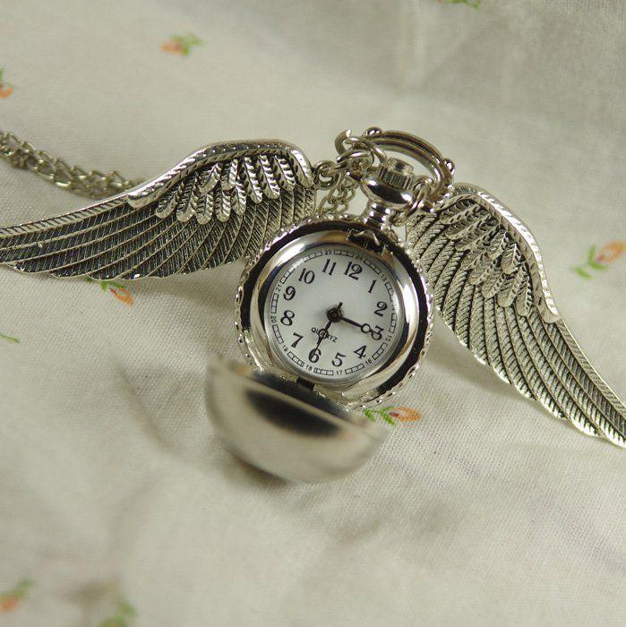 Карманные часы Снитч (серебристые)