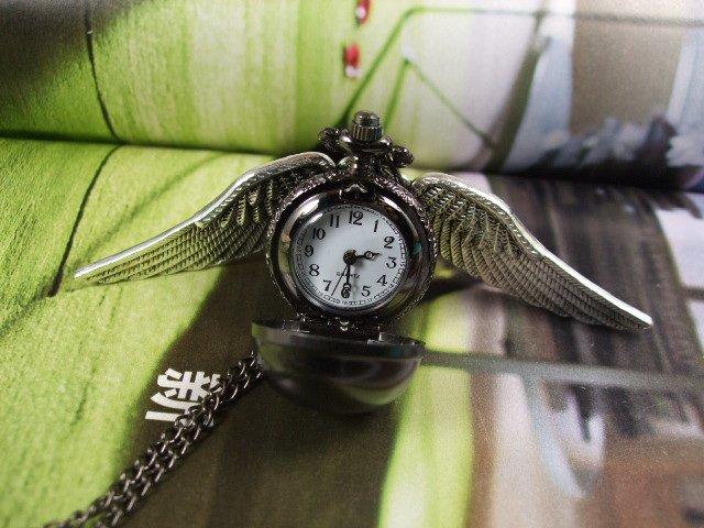 Карманные часы Снитч (черное серебро)