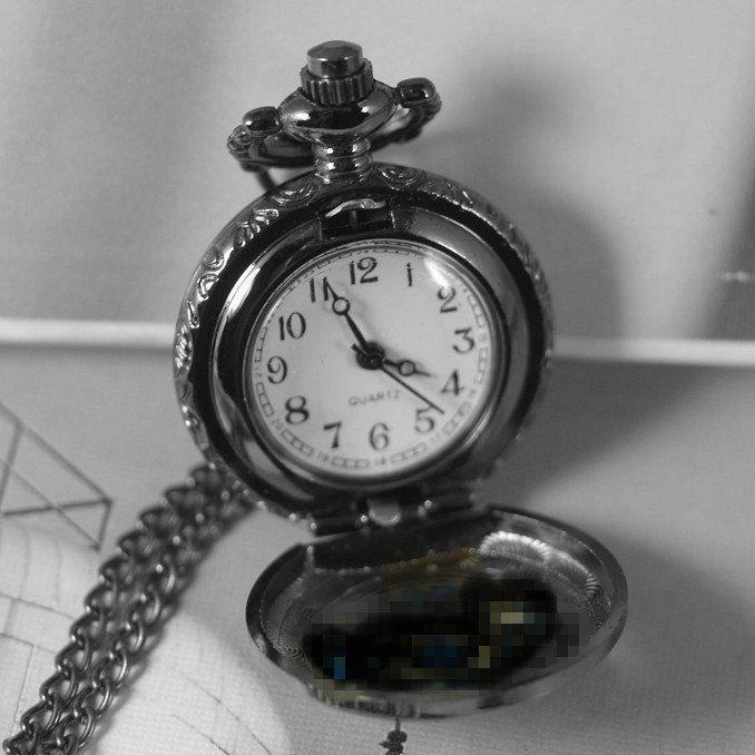 Карманные часы Сова (черный цвет)
