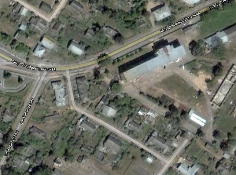 Калонія на мапе гугла