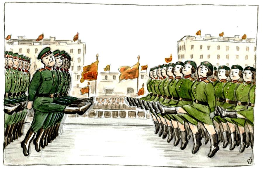 Картинка парад для детей на белом фоне