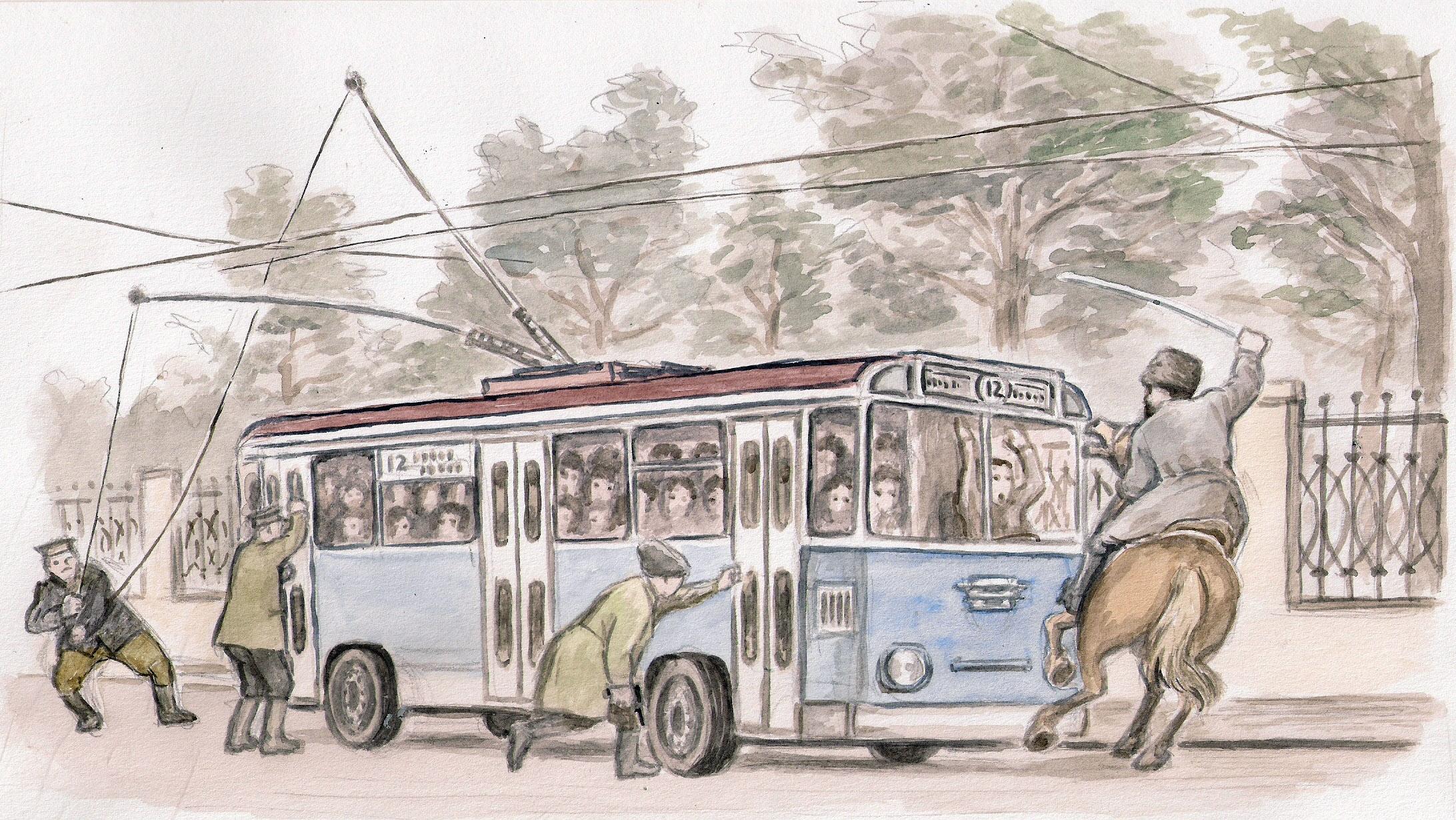 Рассказ о сексе в троллейбусе 4 фотография
